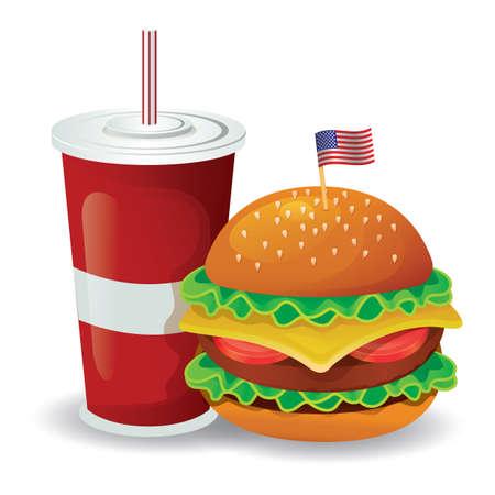 coke: burger with coke glass