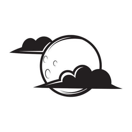 amongst: moon amongst clouds