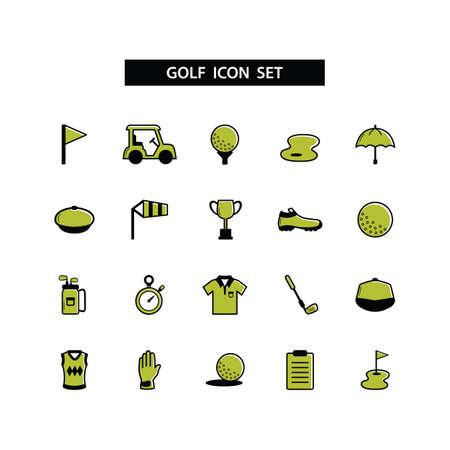 golf glove: golf icons collection Illustration