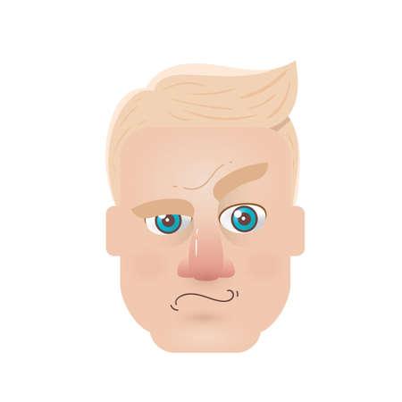 raised eyebrow: confused man