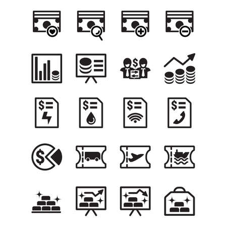 stockmarket chart: money and billing icons Illustration
