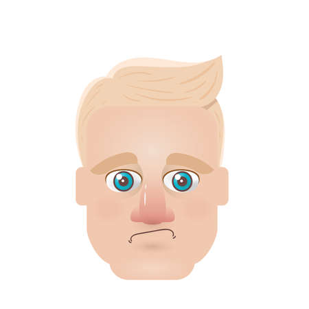 frustrated: man with frustrated expression Illustration