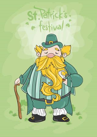 oldman: st patricks day festival poster Illustration