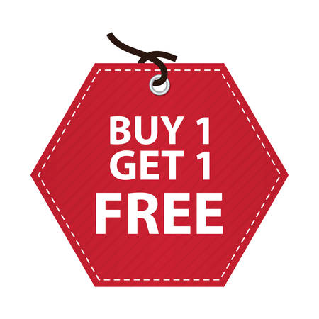 get one: buy one get one free tag