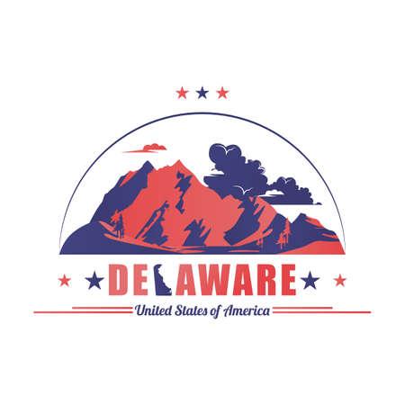 benchmark: delaware mountains Illustration