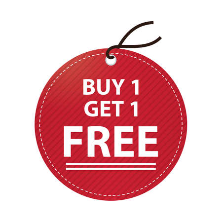 sell off: buy one get one free tag