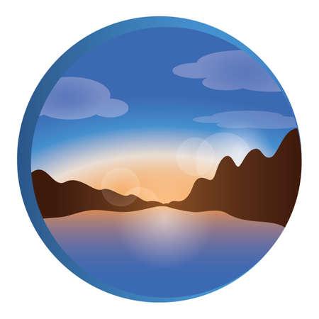 mountain stream: landscape icon