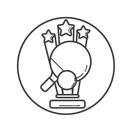 on the table: table tennis trophy Illustration
