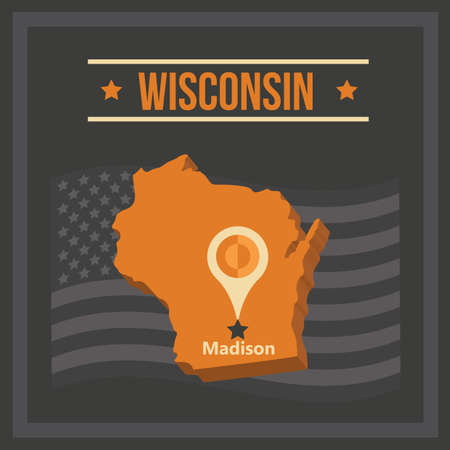 wisconsin: map of wisconsin state