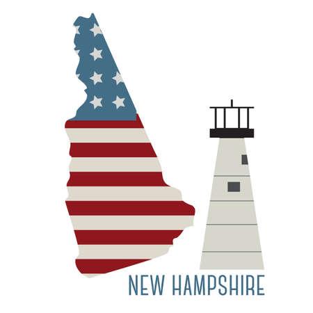 ニューハンプシャー州ポーツマス ハーバー ライト  イラスト・ベクター素材