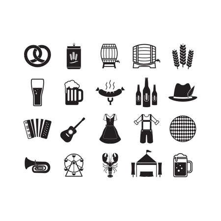set of oktoberfest icons Ilustrace