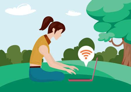 girl laptop: girl working on laptop