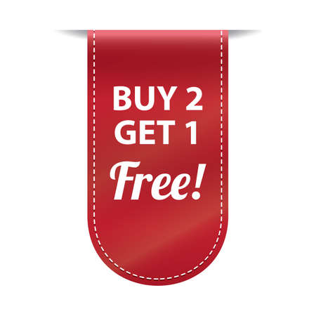 get one: buy two get one free banner