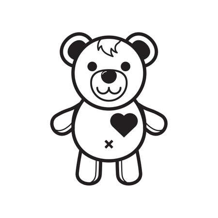 teddybear: teddy bear Illustration