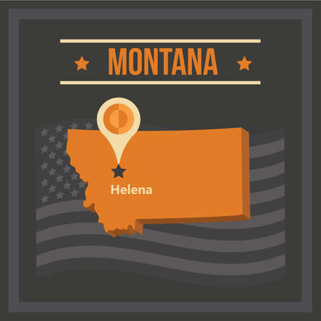 map of montana state