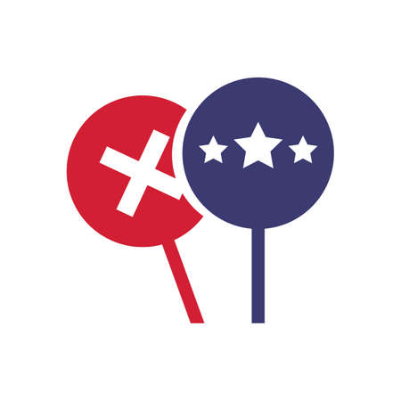 president of the usa: placard with cross and stars Illustration