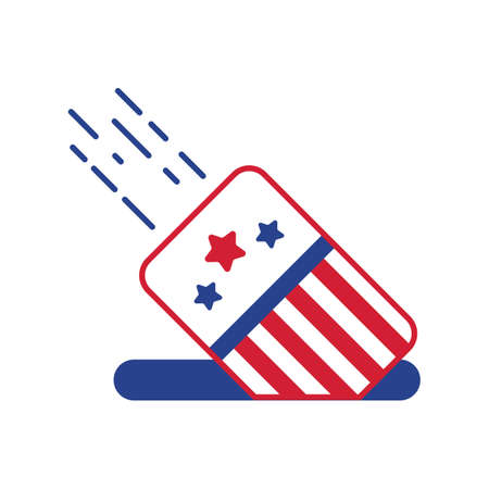 president of the usa: dropping vote in box Illustration