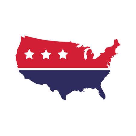 president of the usa: usa map Illustration