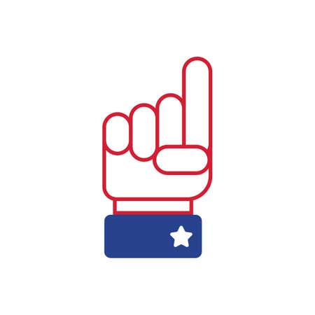 finger pointing up: finger pointing up Illustration