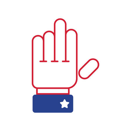 president of the usa: hand