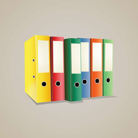 ring binders: colored ring binders