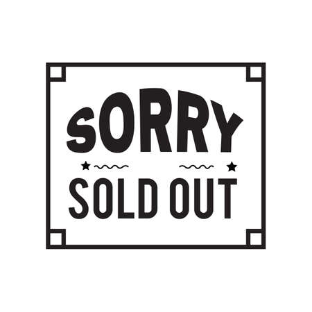 sold out: sorry sold out text