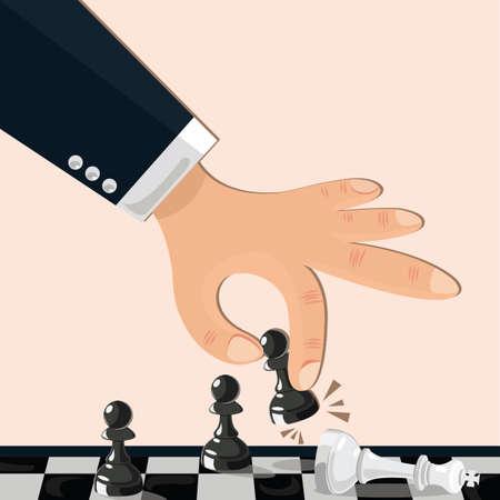 jugando ajedrez: ajedrez hombre de juego