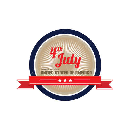 fourth of july: fourth july independence day label