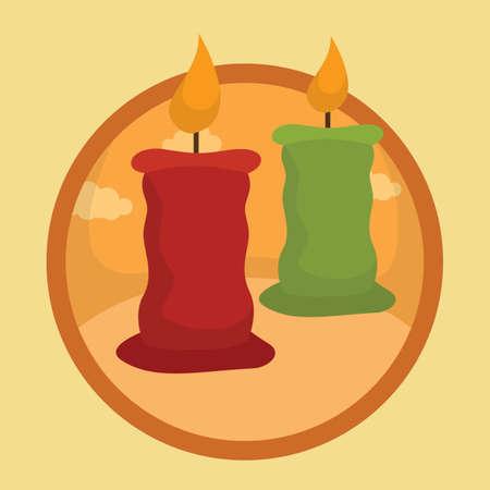 lit: lit candles