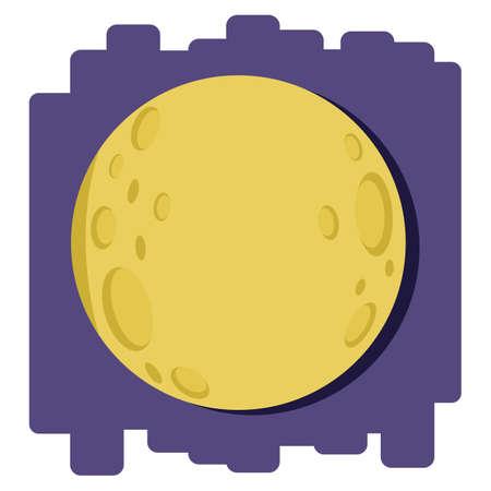 moon: bright round moon