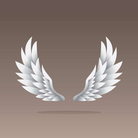 angelic: angel wings Illustration