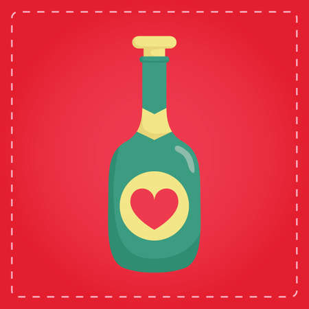stopper: bottle with a heart