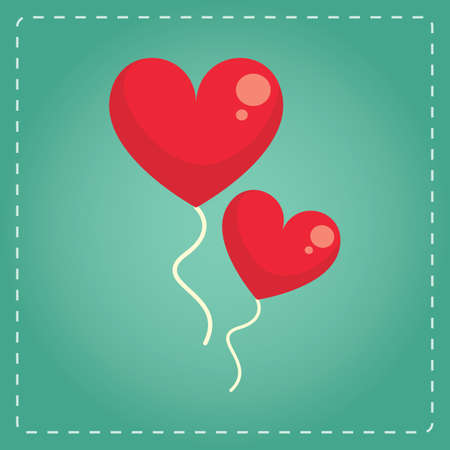 helium: heart shaped helium balloons Illustration