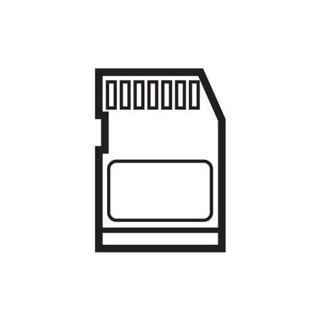 reader: memory card reader Illustration
