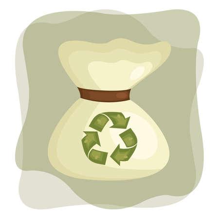 garbage bag: garbage bag Illustration