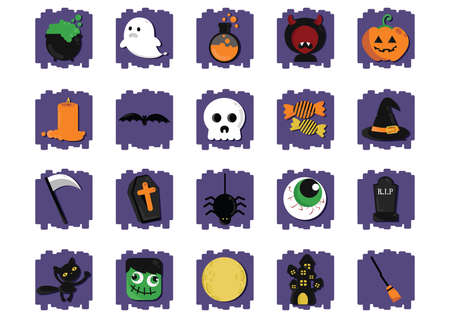 themed: halloween themed vectors Illustration
