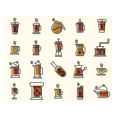 related: collection of coffee related icons