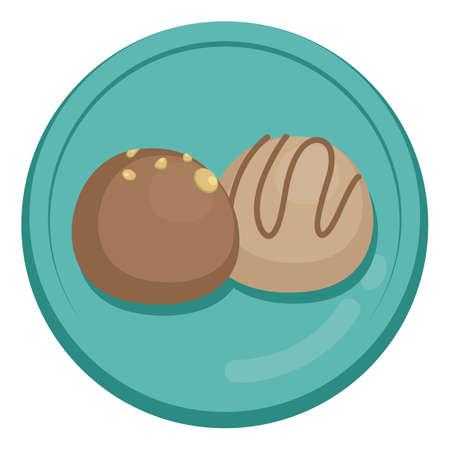 chocolate balls: chocolate balls Illustration