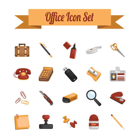tape marker: office icon set