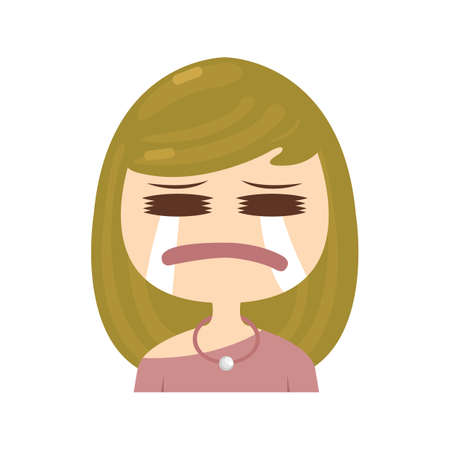 feelings and emotions: woman crying