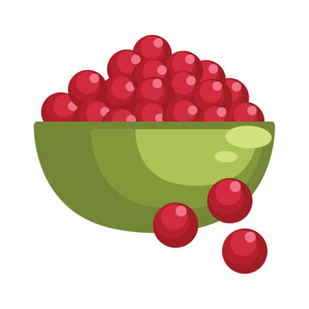 red berries: red berries in a bowl