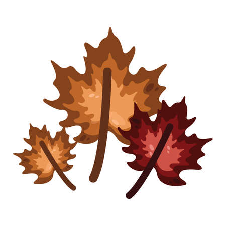 getaways: maple leaves Illustration