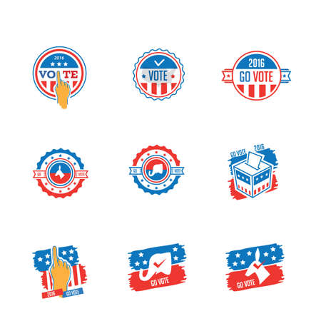 voting: set of voting badges