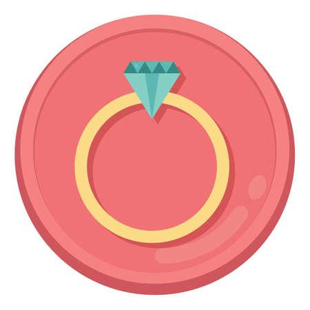 commitments: diamond ring Illustration
