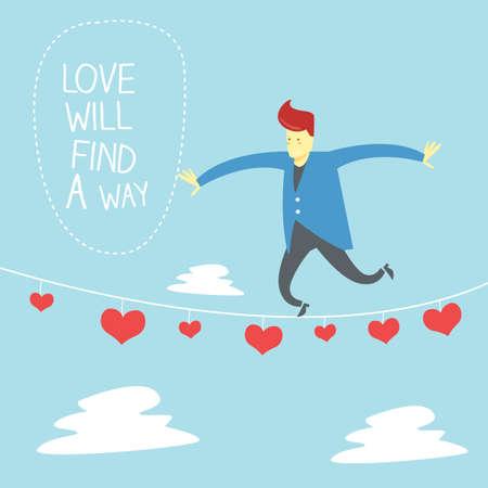 rope way: love card