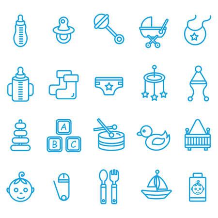 woollen: baby icon set
