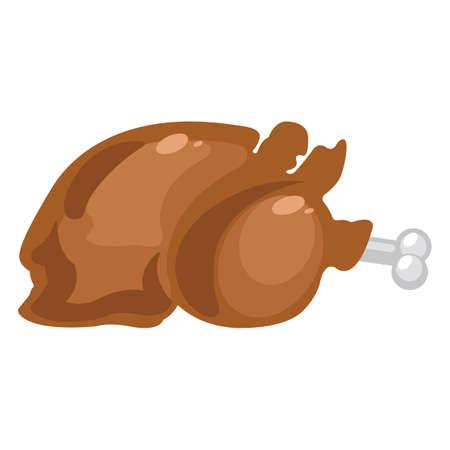 eatable: roasted chicken Illustration