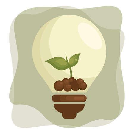 sapling: sapling in light bulb Illustration