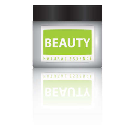 woman face cream: beauty cream bottle