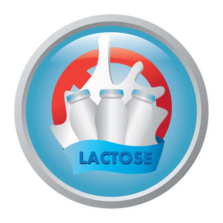 lactose: no lactose sign Illustration